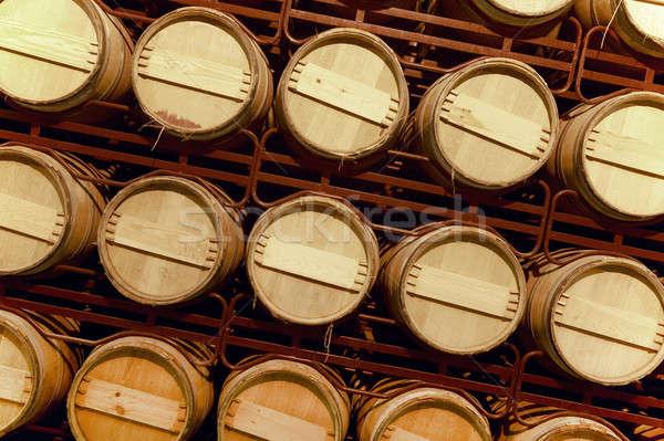 Bor öregedés pince folyamat spanyol fa Stock fotó © ABBPhoto