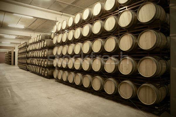 вино старение погреб процесс испанский древесины Сток-фото © ABBPhoto