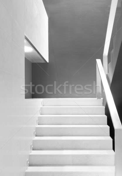 лестница подробность современных офисное здание интерьер черно белые Сток-фото © ABBPhoto
