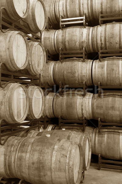 Wine barrels Stock photo © ABBPhoto