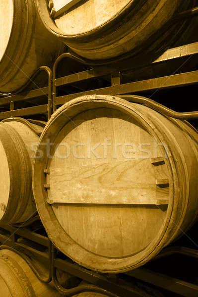 Vin imbatranire proces spaniol lemn Imagine de stoc © ABBPhoto