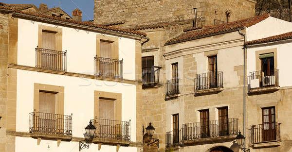 Balconies at Trujillo city Spain Stock photo © ABBPhoto