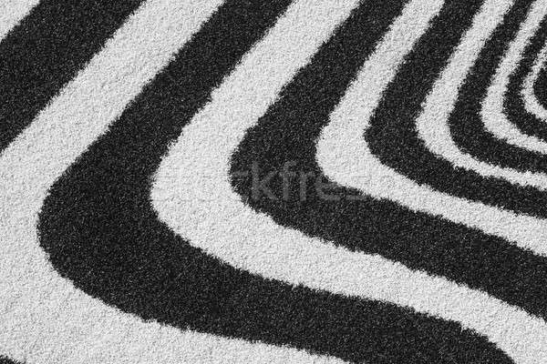 Carpet with curved lines Stock photo © ABBPhoto