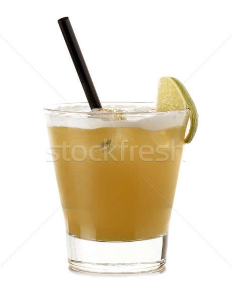 кубинский специальный коктейль извести белый вертикальный Сток-фото © ABBPhoto