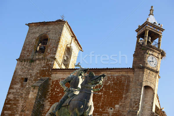 Сток-фото: статуя · Церкви · город · лошади