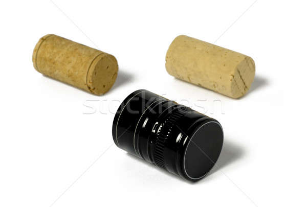 Different stoppers metal and corks Stock photo © ABBPhoto