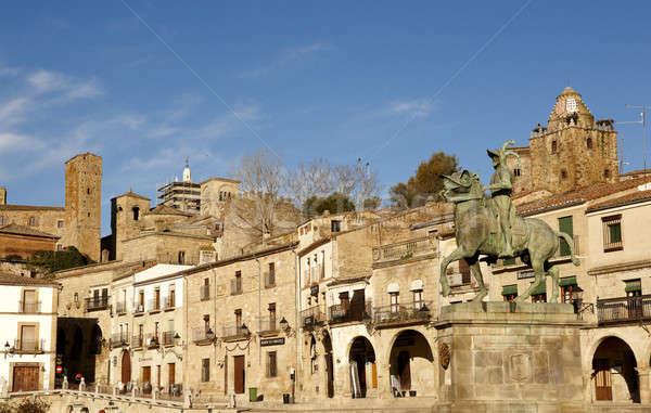 Panorâmico ver cidade Espanha Foto stock © ABBPhoto