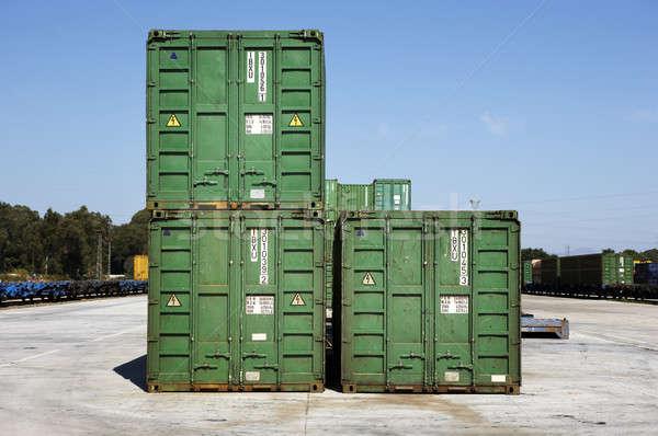 Ferrocarril verde árboles transporte entrega Foto stock © ABBPhoto