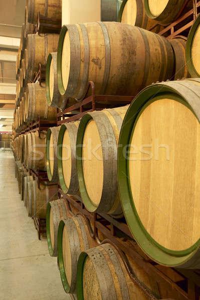 Vin imbatranire proces spaniol vertical Imagine de stoc © ABBPhoto