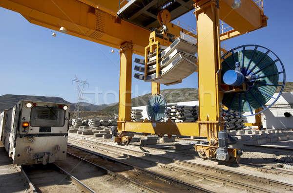 Railway under construction Stock photo © ABBPhoto