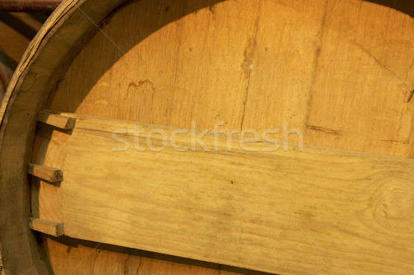 Wine barrel detail in an aging process Stock photo © ABBPhoto