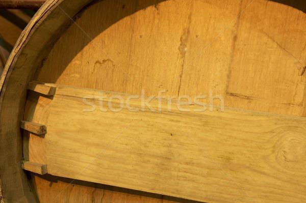 şarap namlu detay yaşlanma süreç bodrum Stok fotoğraf © ABBPhoto