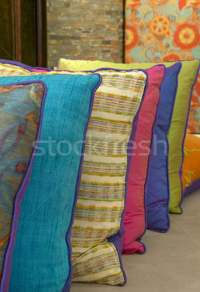 詳細 ショット 装飾的な 枕 異なる ストックフォト © ABBPhoto