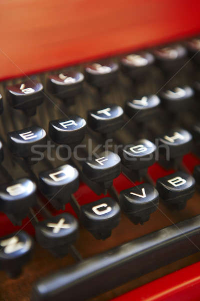 Retro typewriter keys Stock photo © ABBPhoto