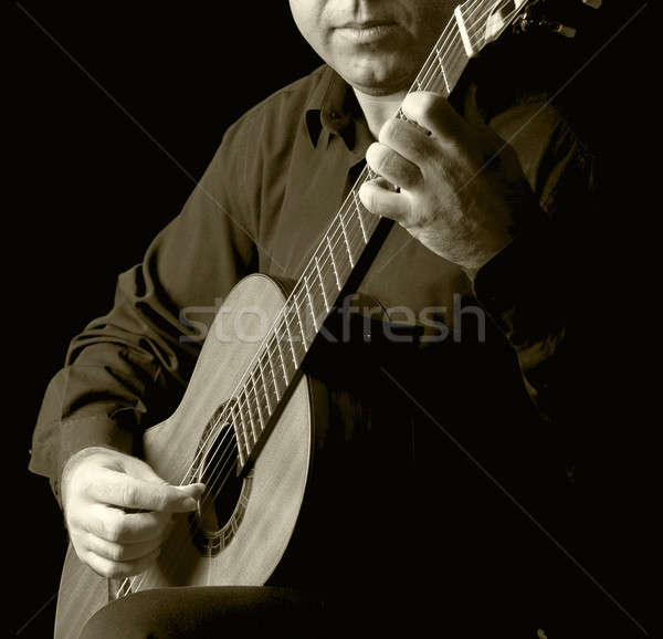 Classical Guitarist Stock photo © ABBPhoto