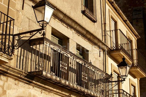Low angle shot of balcony Stock photo © ABBPhoto