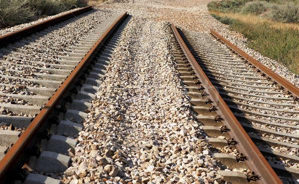 поезд строительство мертвых линия горизонтальный движения Сток-фото © ABBPhoto