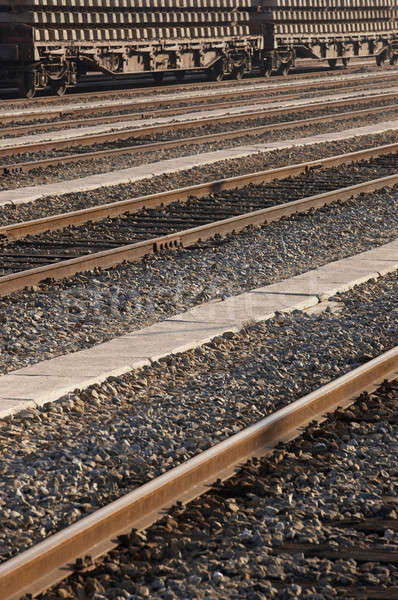 Ferrocarril estación de ferrocarril cruz industria industrial Foto stock © ABBPhoto
