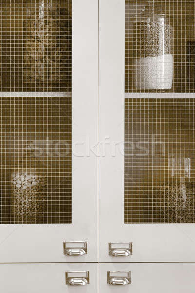 антикварная кухне продовольствие стекла внутри Сток-фото © ABBPhoto