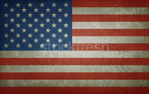 Grunge flag of USA Stock photo © abdulsatarid