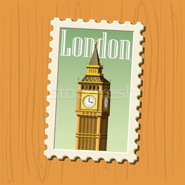 известный направления Лондон почтовая марка соответствовать Сток-фото © abdulsatarid