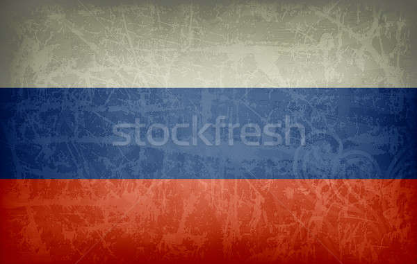 Grunge flag of Russia Stock photo © abdulsatarid