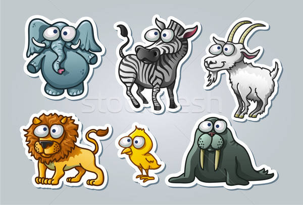 Cartoon animals Stock photo © abdulsatarid