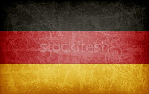 Гранж флаг Германия высокий разрешение текстуры Сток-фото © abdulsatarid