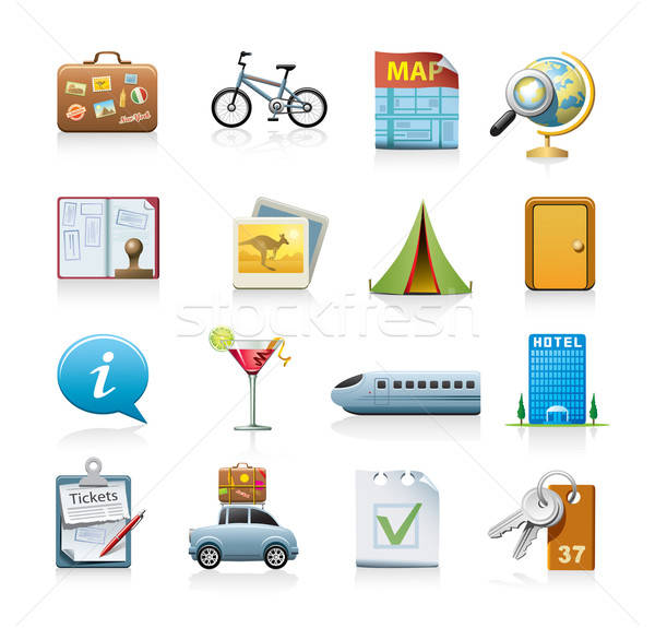 Stock photo: 	travel icon set