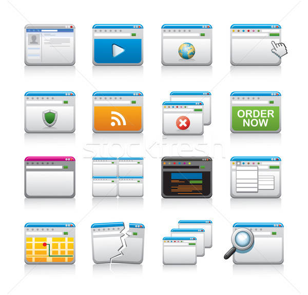 website icon set Stock photo © abdulsatarid