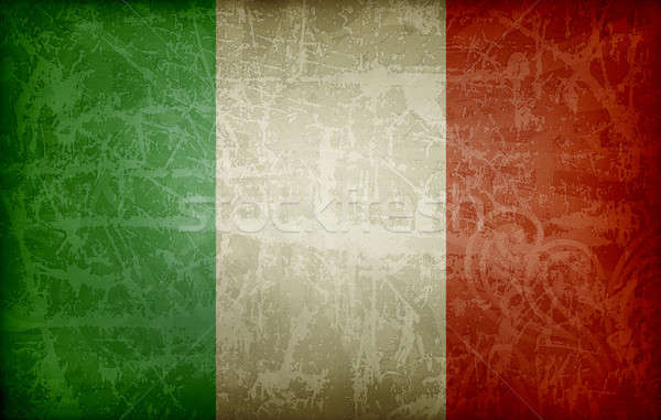 Grunge flag of Italy Stock photo © abdulsatarid
