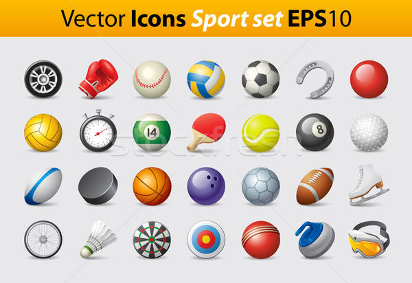 Sport Icons Stock photo © abdulsatarid