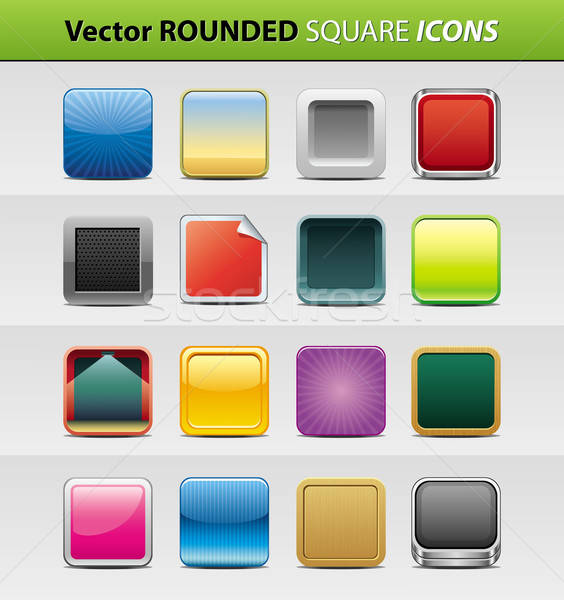 Square icons Stock photo © abdulsatarid
