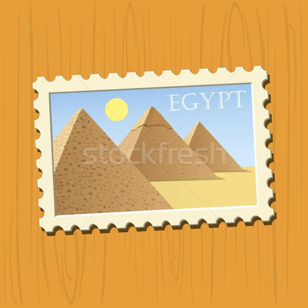 известный направления Египет почтовая марка соответствовать Сток-фото © abdulsatarid