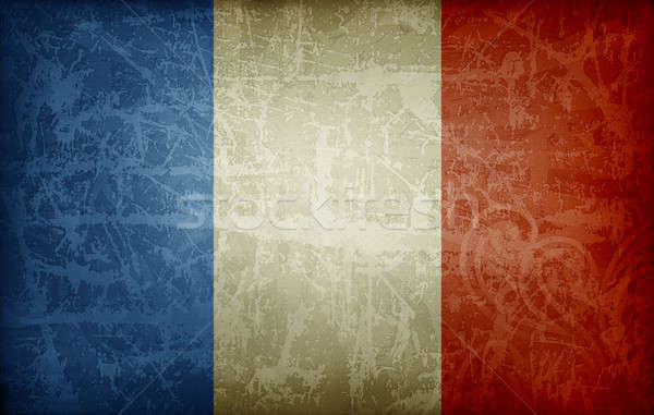 Grunge flag of France Stock photo © abdulsatarid