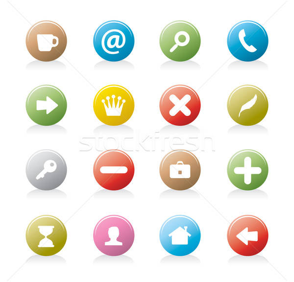 web button set Stock photo © abdulsatarid