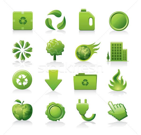 green icons Stock photo © abdulsatarid