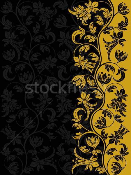 Decorativo floreale pattern retro foglia sfondo Foto d'archivio © AbsentA