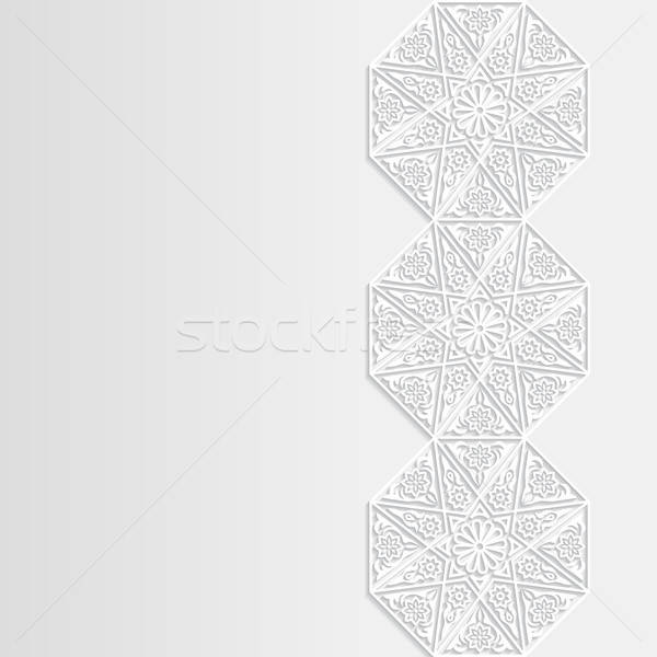 Abstract traditioneel ornament ontwerp behang asian Stockfoto © AbsentA