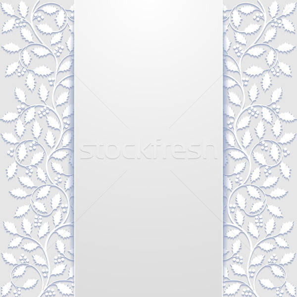 Abstract floral background with holly Stock photo © AbsentA