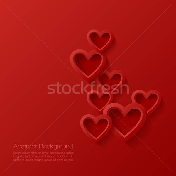 Abstract valentine background. Vector illustration. Stock photo © AbsentA