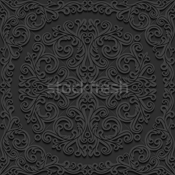 Model dizayn arka plan siyah Stok fotoğraf © AbsentA