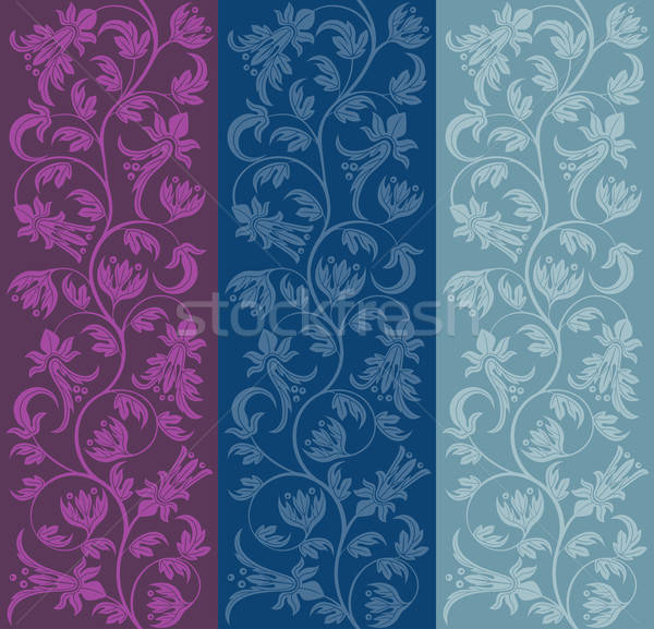 Seamless floral pattern. Retro background. Vector illustration. Stock photo © AbsentA