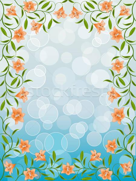 Floral quadro lírio flor textura abstrato Foto stock © AbsentA