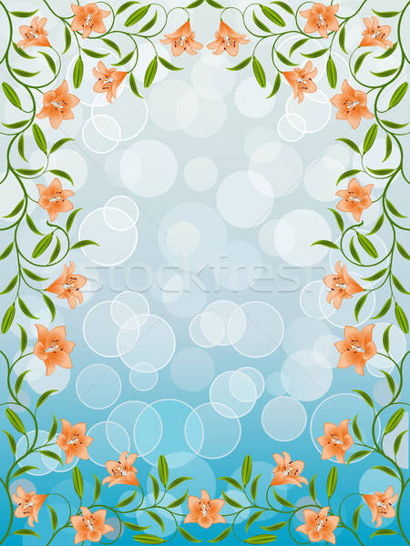 Frame lelie bloem textuur abstract Stockfoto © AbsentA