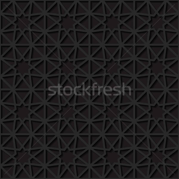 Geleneksel süs dizayn siyah duvar kağıdı Stok fotoğraf © AbsentA
