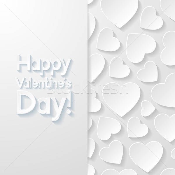 Valentijnsdag wenskaart liefde hart achtergrond kunst Stockfoto © AbsentA