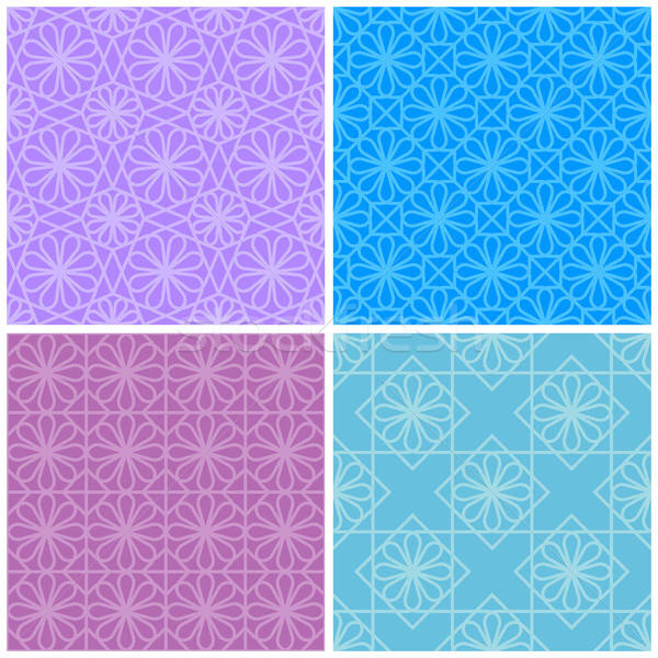 Ingesteld naadloos meetkundig patronen achtergrond patroon Stockfoto © AbsentA