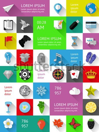 Ui, infographics and web elements including flat design. Vector illustration. Stock photo © AbsentA