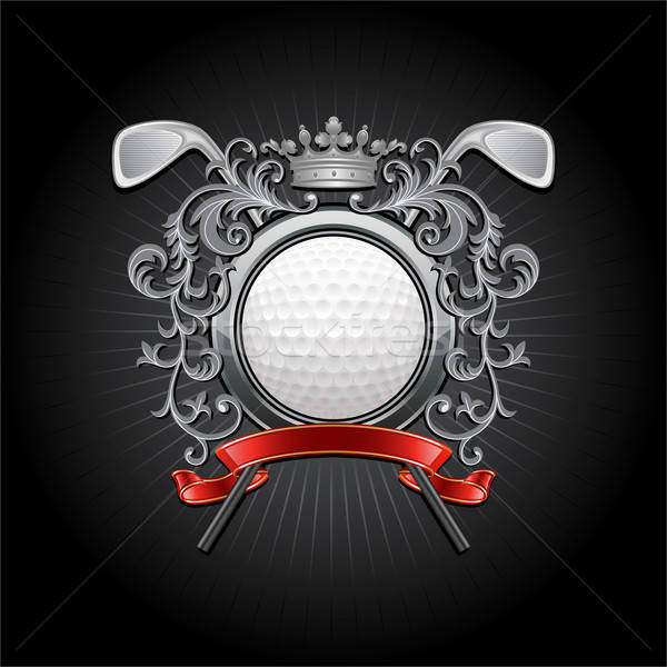 Golf bras balle de golf sport club balle Photo stock © AbsentA